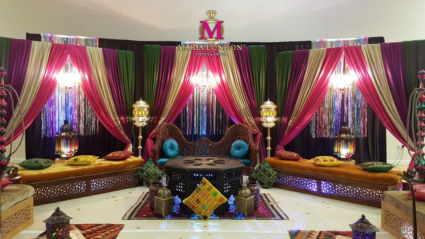 Mendhi/wedding stage