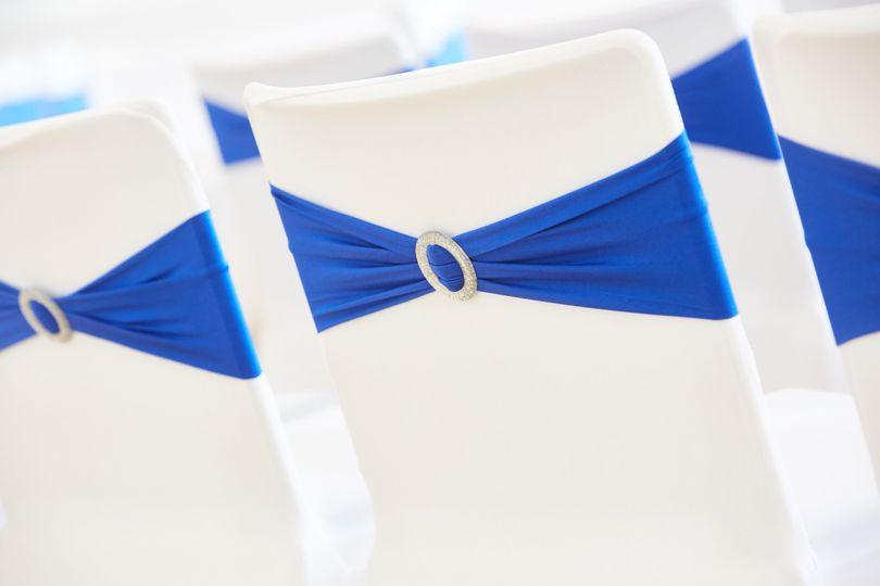 Diamonte Sash - Royal Blue