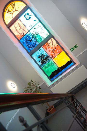 Stair Case - Stained Glass