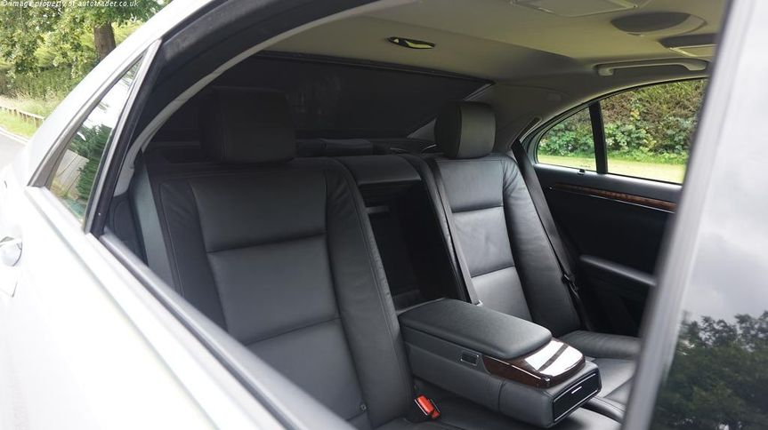 Spacious interior of the S350