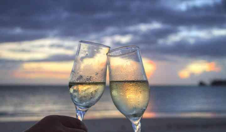 Sunset toast