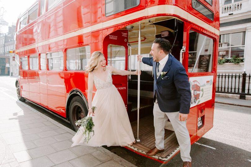 J & S London pub wedding