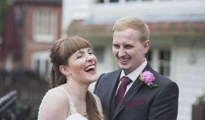C & E's pub wedding in Surrey