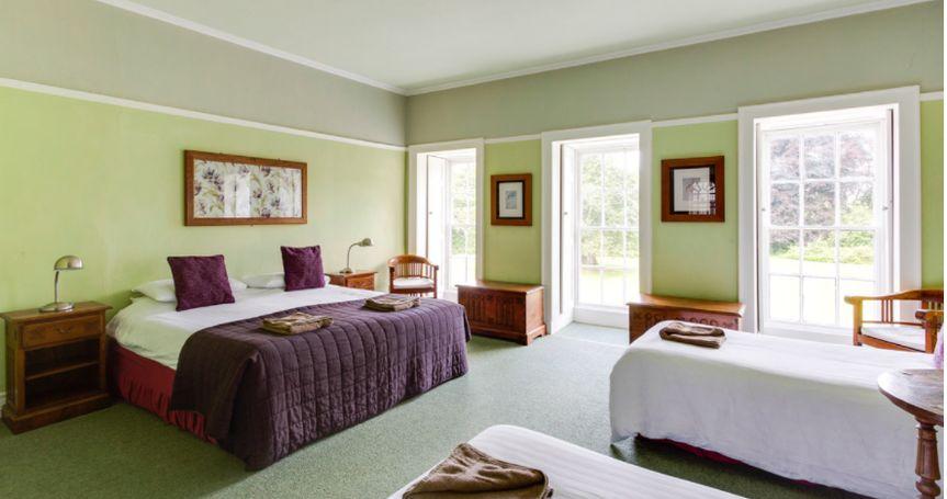 Bedroom in mansion