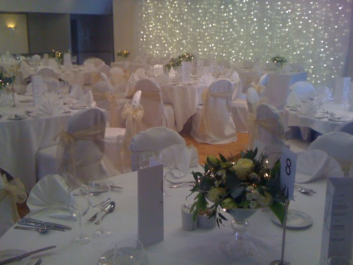 Backdrop and table centres