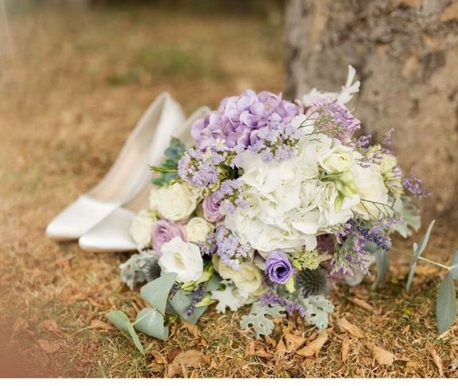 Wedding bouquet lavender