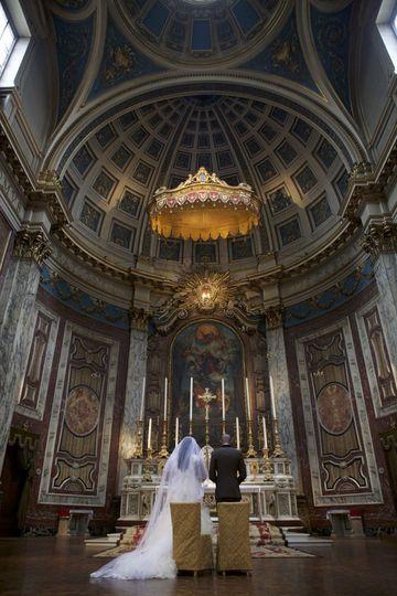 Elegant church ceremony
