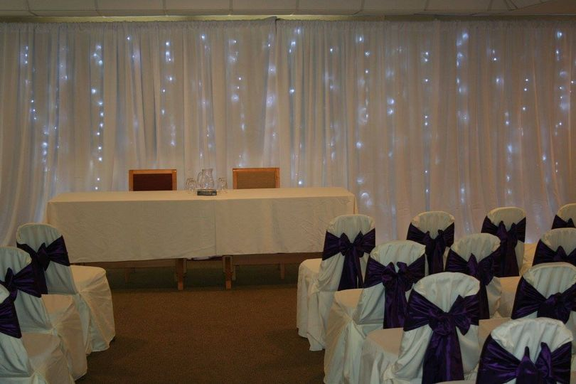 Ceremony & starlight backdrop