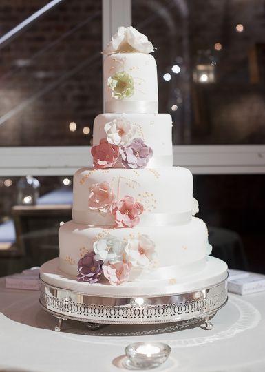 Vaults wedding cake