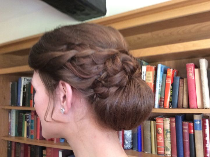 Plaits and chignon