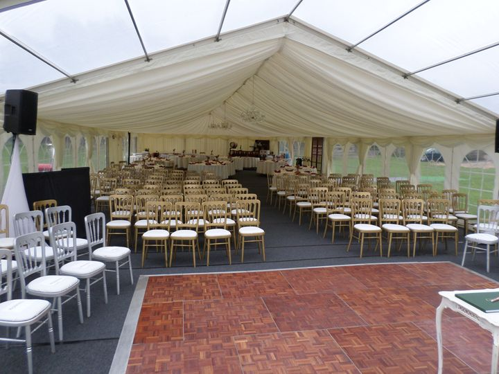 Marquee used for ceremony