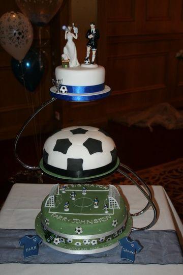 3 tier football cake
