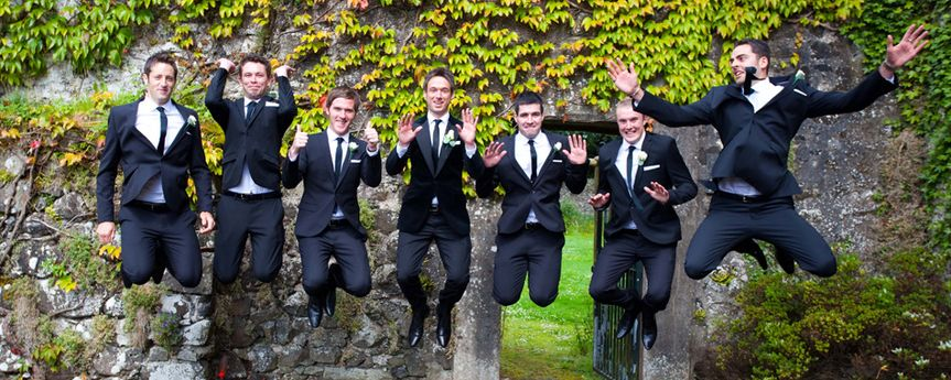 grooms party from tullyglass house hotel photo 6