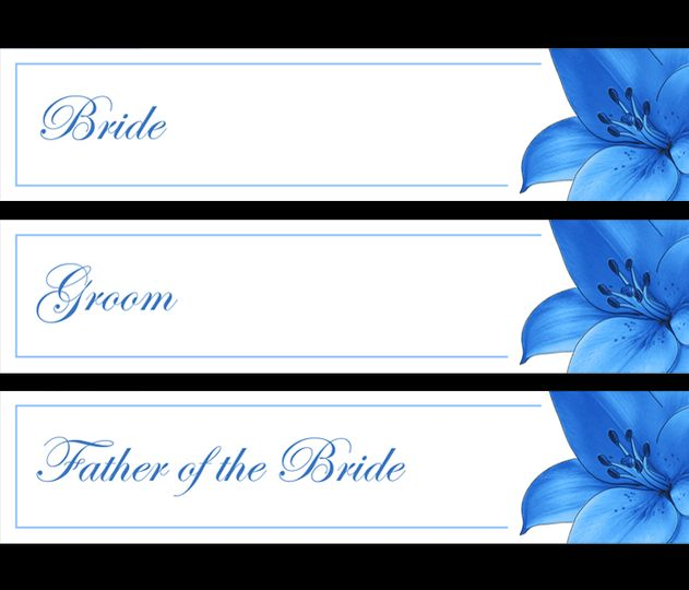 Blue lilly name cards
