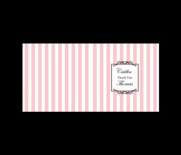 Candy stripe thank you cards