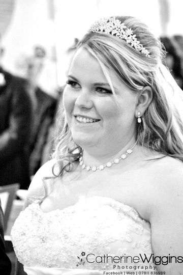 One of our brides on her wedding
