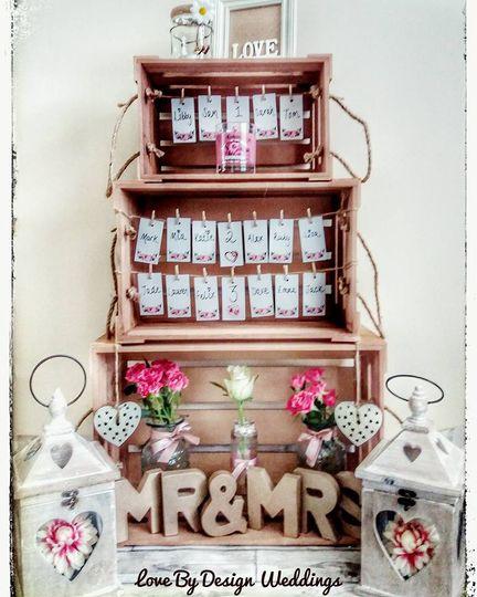 Our vintage wedding set up