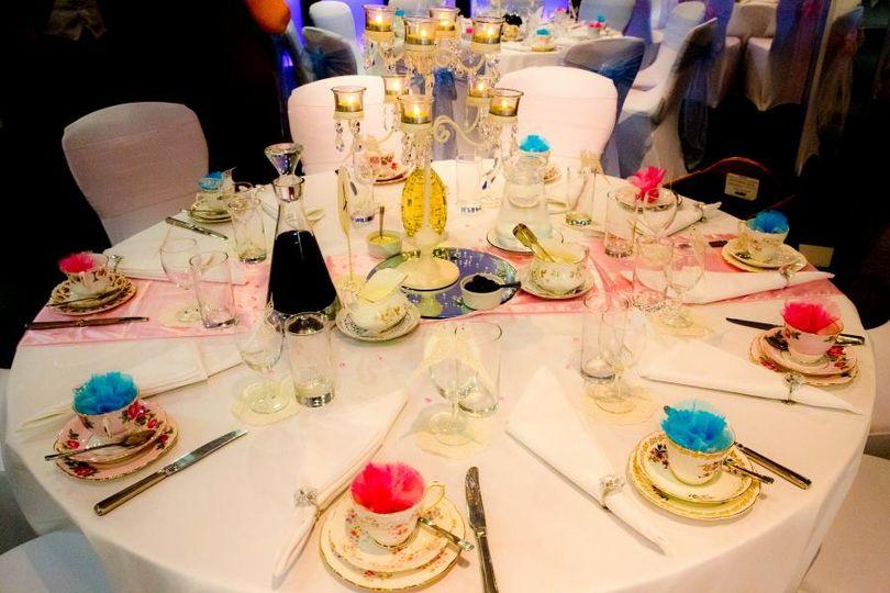 Tea party style wedding