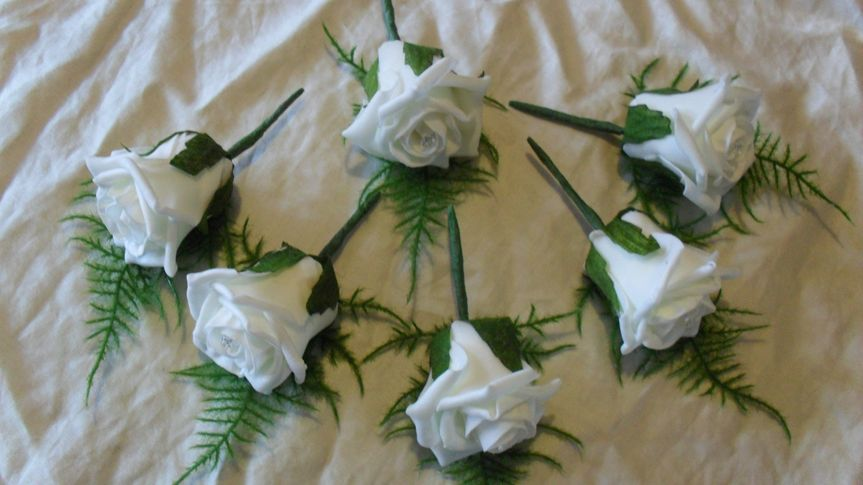Ivory buttonholes
