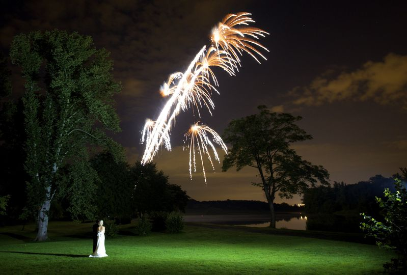 Bride & Groom - Fireworks
