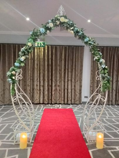 Ceremonial arch hire