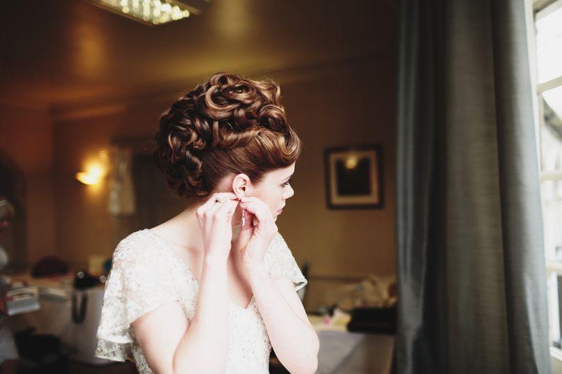 Vintage hair style