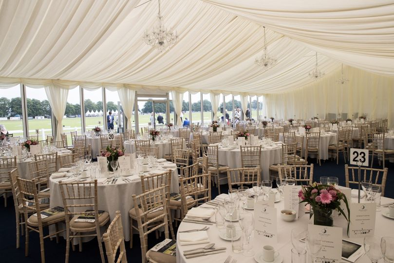 Inside of our marquee
