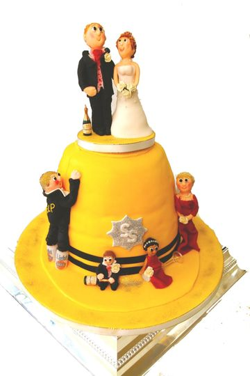 Firemans Helmet Wedding Cake