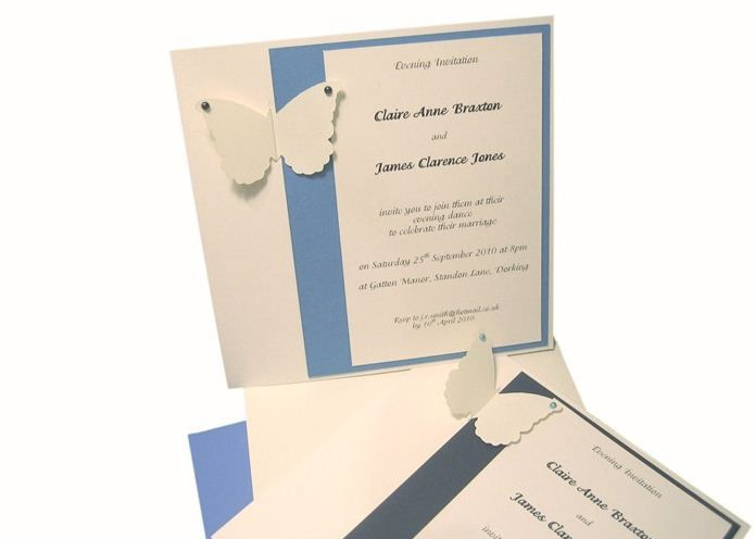 Classic style evening invitation