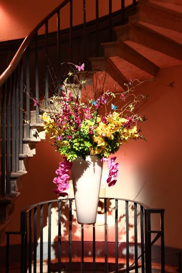 Flowers in entrance