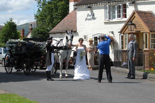 Classic bridal transportation