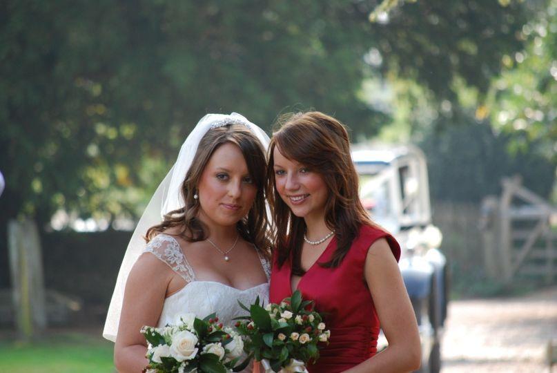 Emma and Bridesmaid Sarah