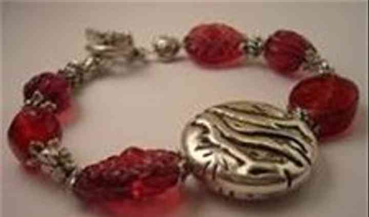 Raspberry Branch Disc Bracelet