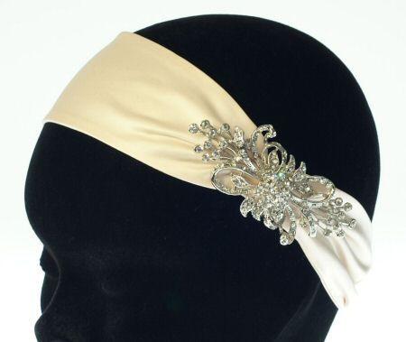 Nathalie French Satin Headband