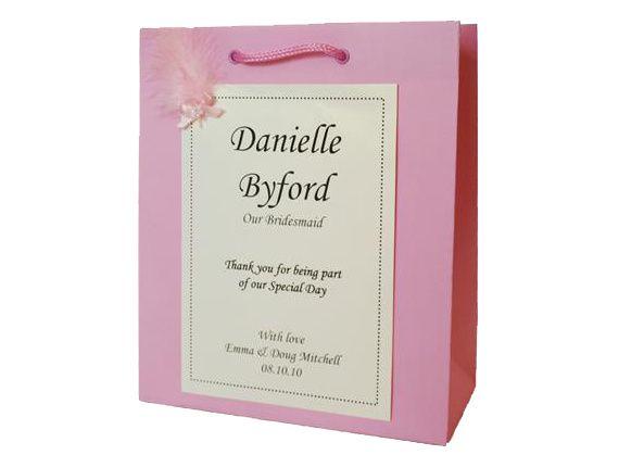 Pink Personalised Gift Bag