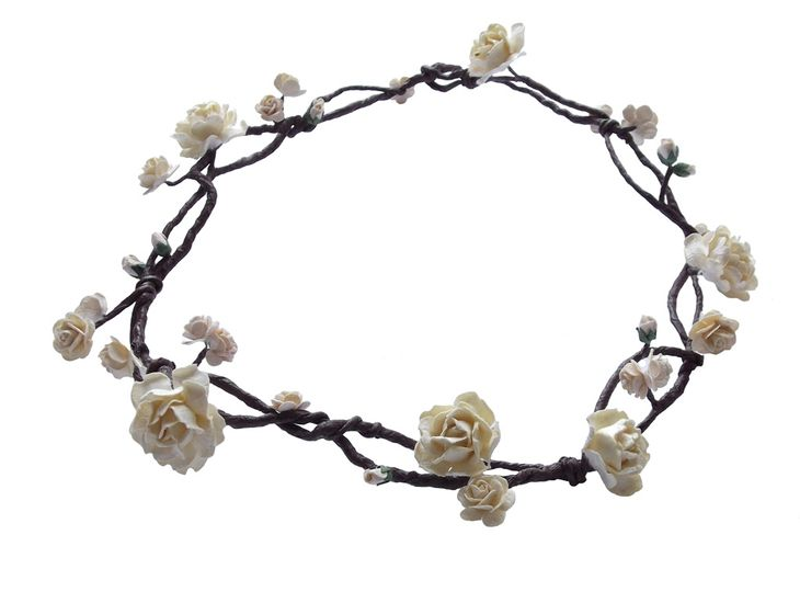 Boho floral circlet