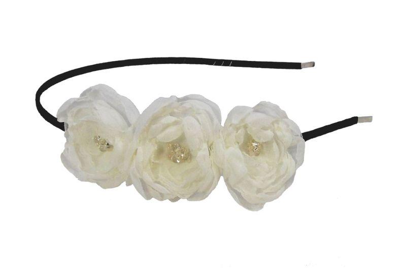 Triple bloom headband