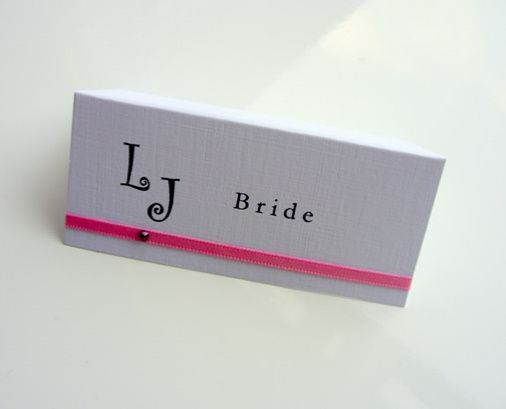 Monogram place card