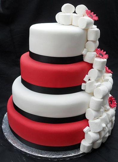 4 Tier Marshmallow Cake