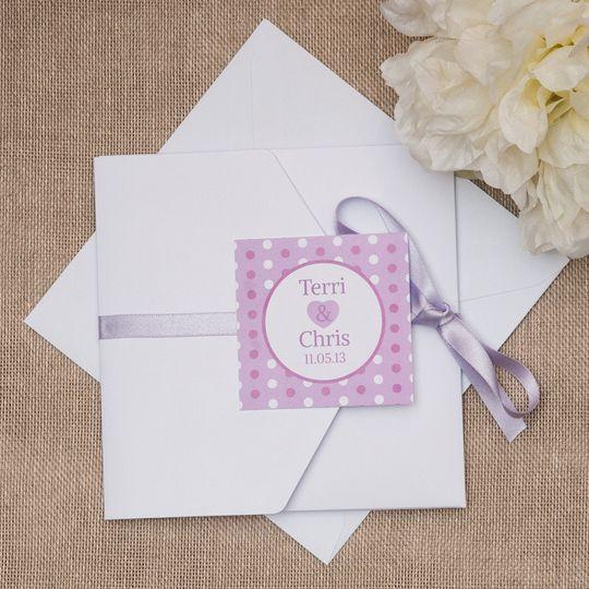 polka dot parade invitation from bluebird wedding stationery photo 13