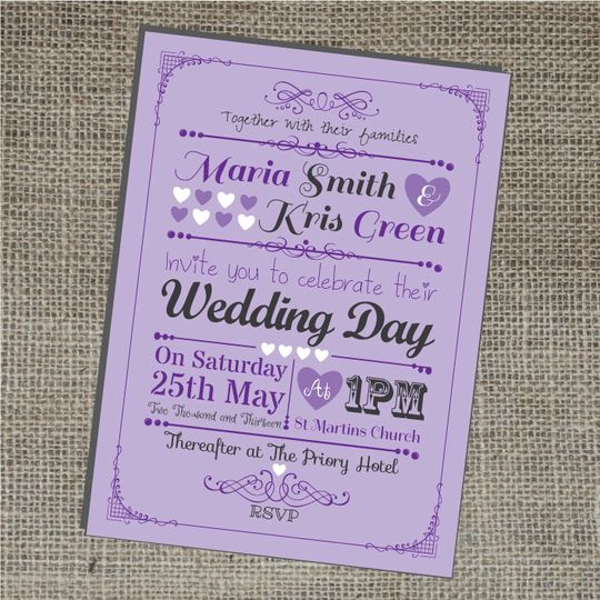 retro wedding invitations from bluebird wedding stationery photo 20