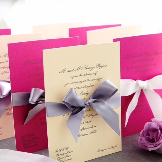 Ribbon invitations