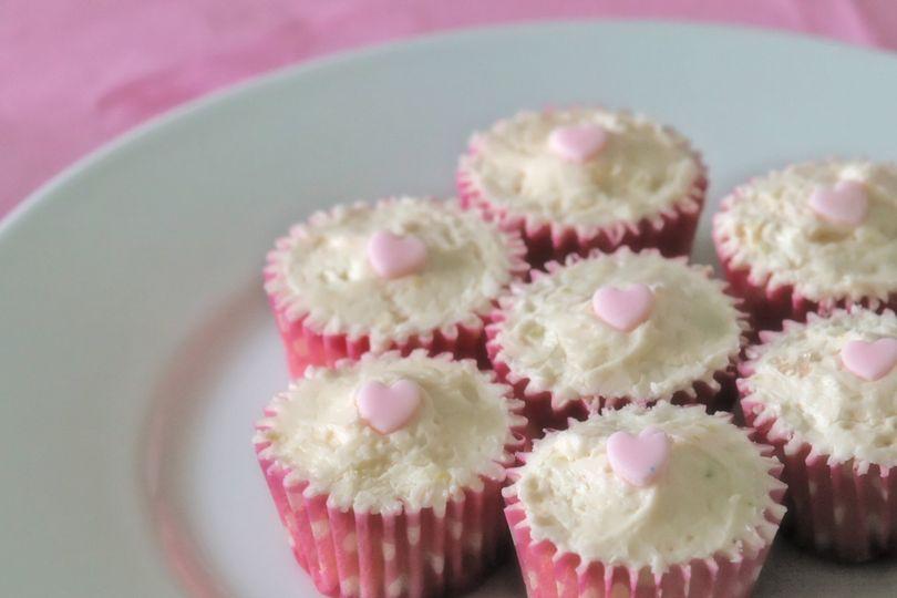Strawberry Daquiri mini cupcakes