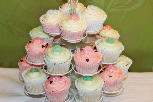 Wedding Cupcakes green & pink
