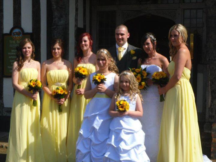 Yellow gerbera handtieds