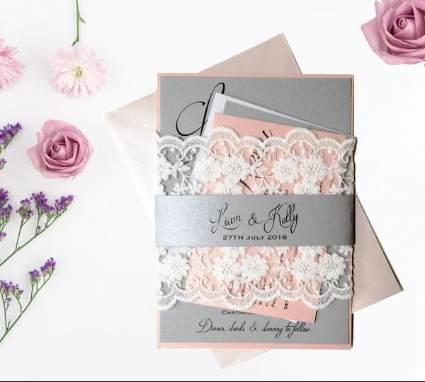 Modern Lace Invitation