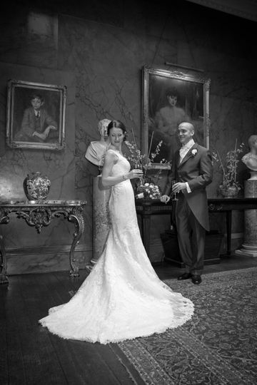 Will Dennehy Photography Bride asnd Groom Black and White