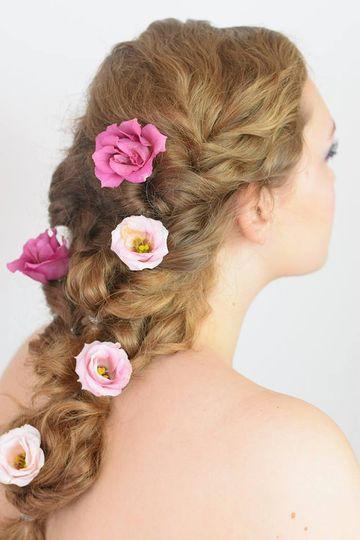 Beautiful braid with flowers