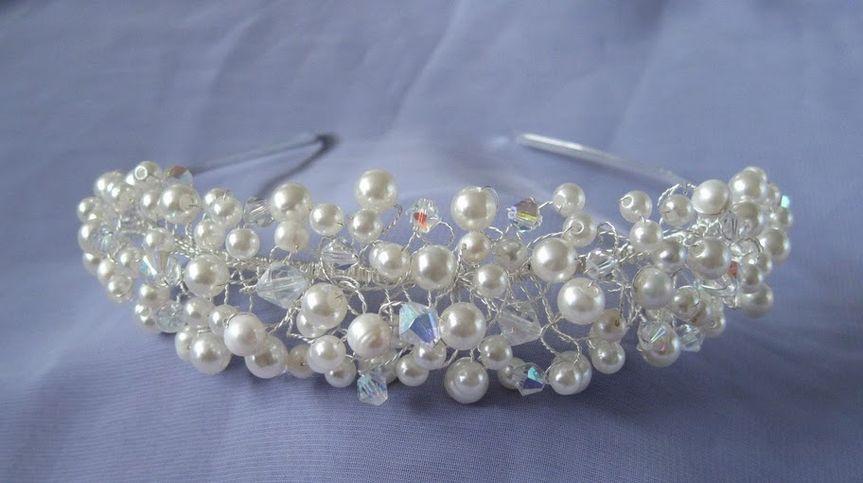 Freshwater Pearl & Crystal Handwired Hairband Tiara