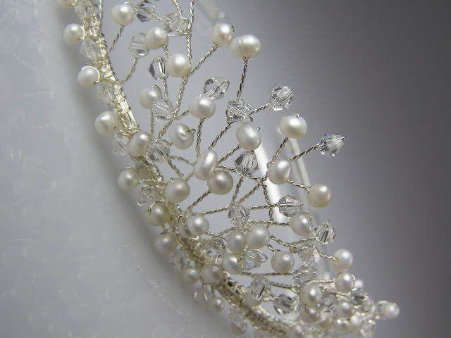 Freshwater Pearl & Crystal Bridal Tiara